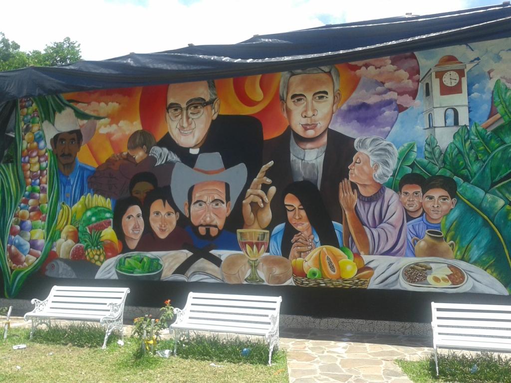 Al Paisnal, Murales che ricorda Oscar Romero e padre Rutilio Grande