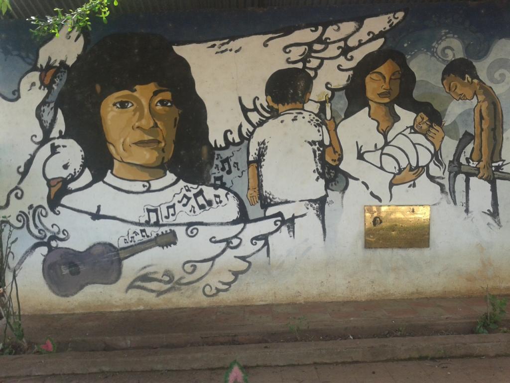La Bermuda: Murales che raffigura Marianella poco lontano dal luogo in cui venne arrestata