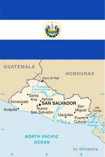 Bandiera e Mappa El Salvador